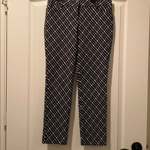 Express black with white squares pants